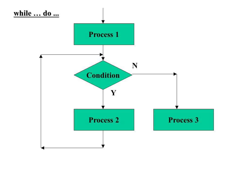 Condition Process 2 Process 1 Process 3 Y N while … do...