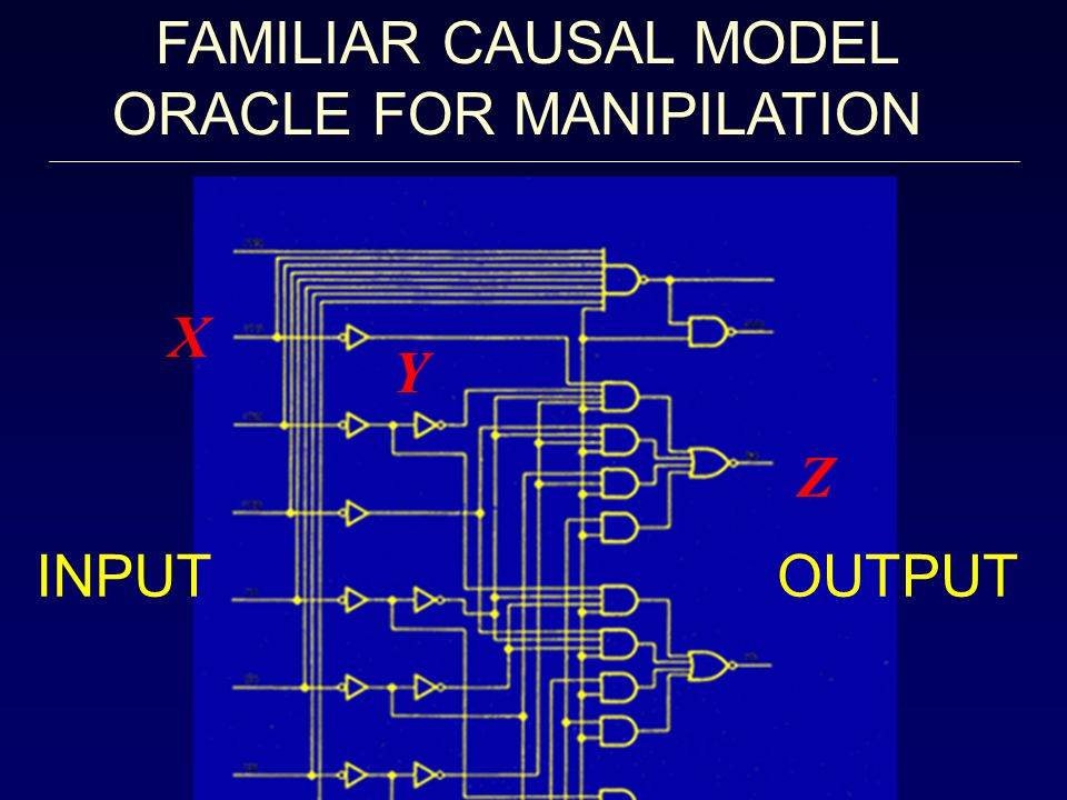 Z Y X INPUTOUTPUT FAMILIAR CAUSAL MODEL ORACLE FOR MANIPILATION