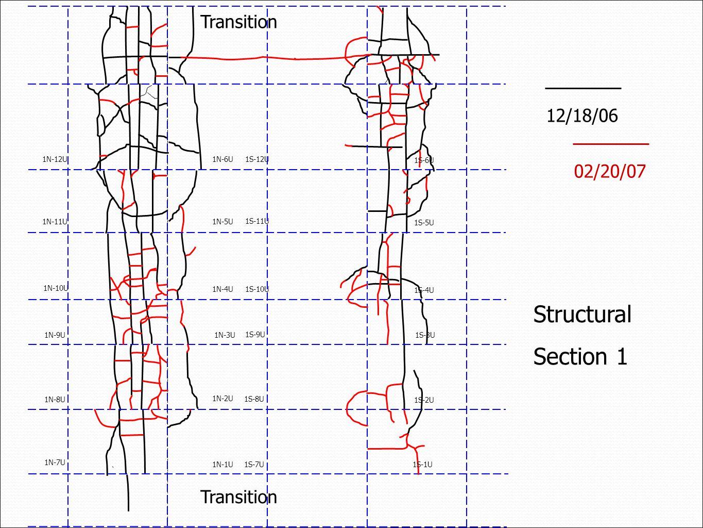 12/18/06 Structural Section 1 02/20/07 Transition 1N-7U 1N-8U 1N-9U 1N-10U 1N-11U 1N-12U 1N-1U 1N-2U 1N-3U 1N-4U 1N-5U 1N-6U 1S-7U 1S-8U 1S-9U 1S-10U 1S-11U 1S-12U 1S-1U 1S-2U 1S-3U 1S-4U 1S-5U 1S-6U