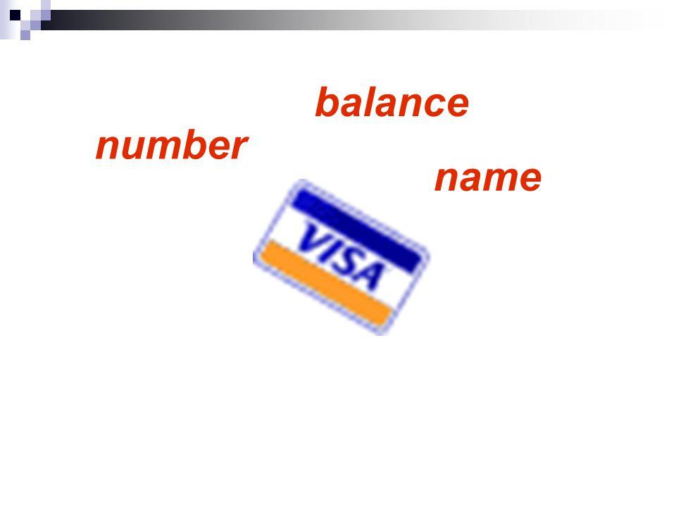 name number balance
