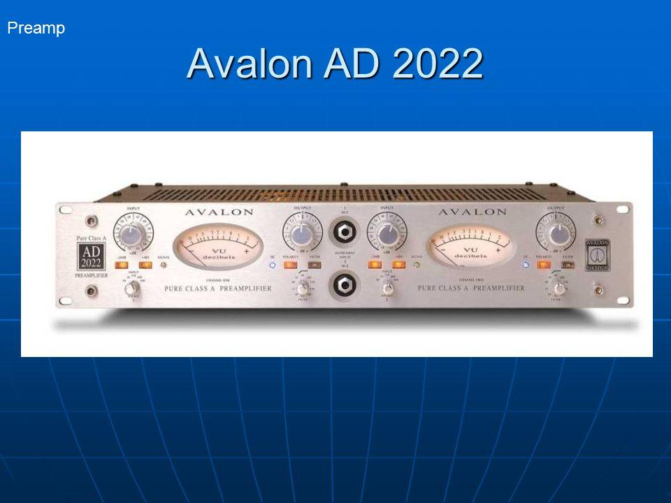 Preamp Avalon AD 2022