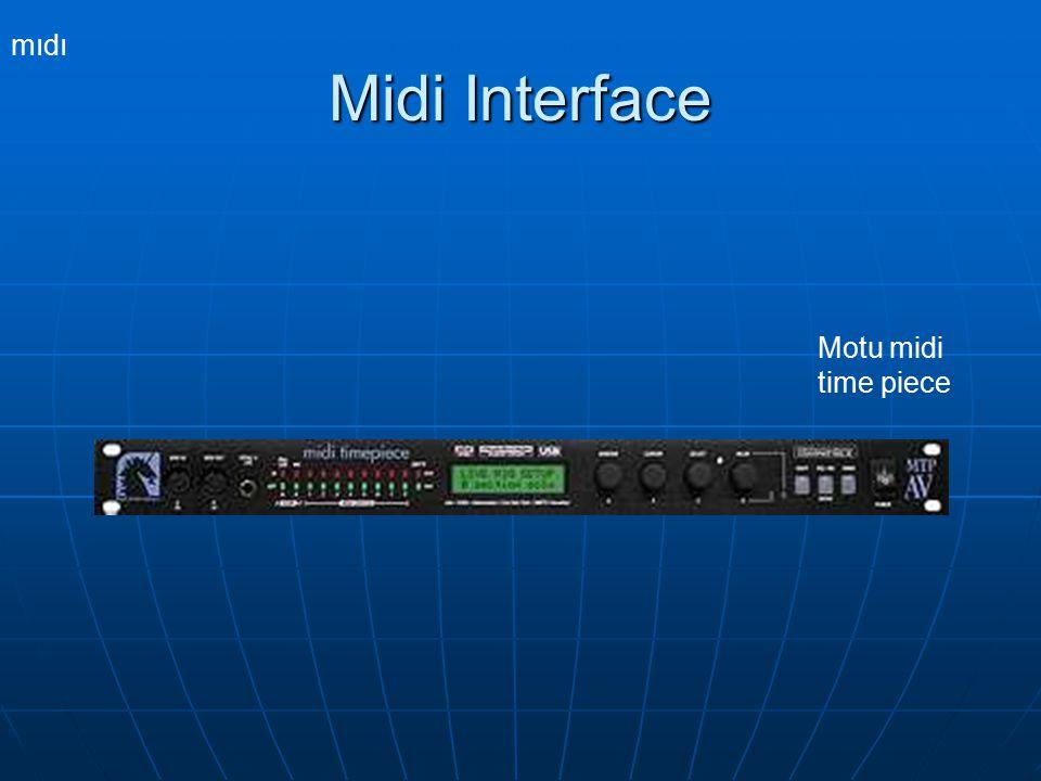 mıdı Motu midi time piece Midi Interface