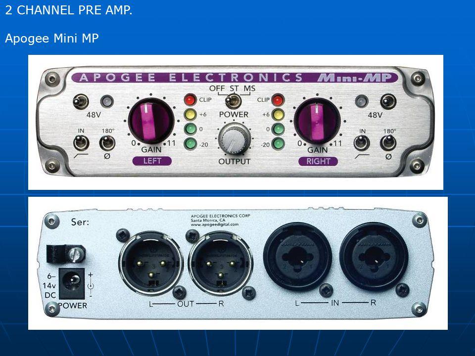 2 CHANNEL PRE AMP. Apogee Mini MP