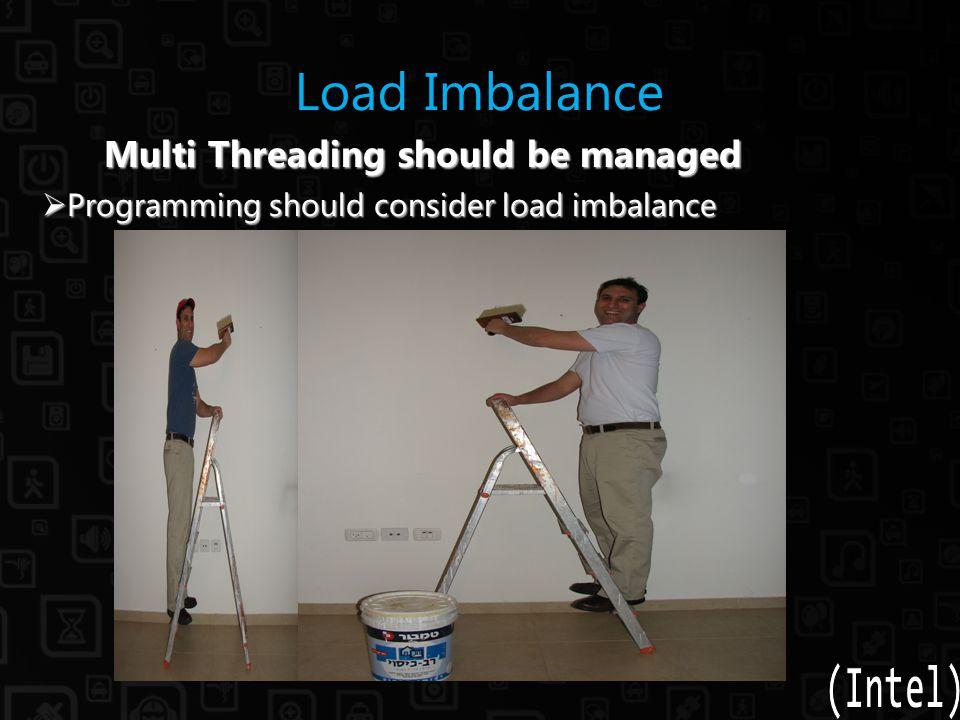 Load Imbalance Multi Threading should be managed Multi Threading should be managed  Programming should consider load imbalance