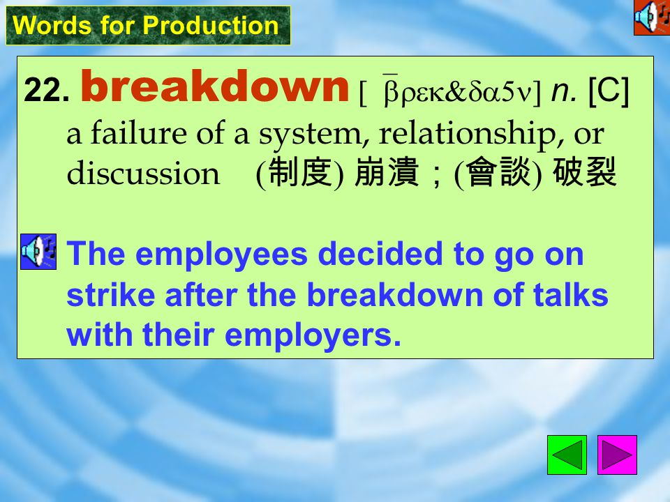 Words for Production 21. decade [`dEked] n.