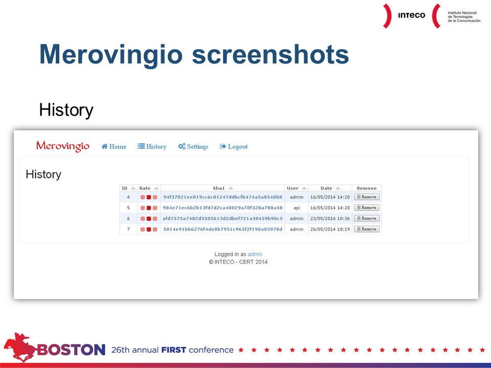 Merovingio screenshots History