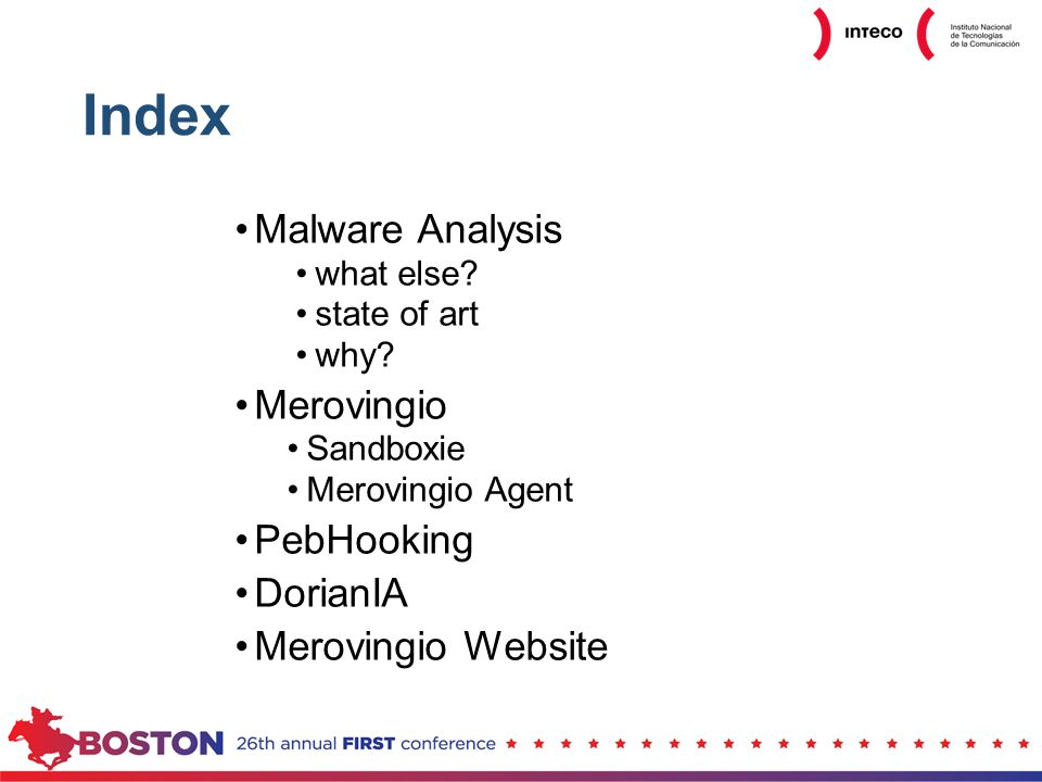 Index Malware Analysis what else. state of art why.