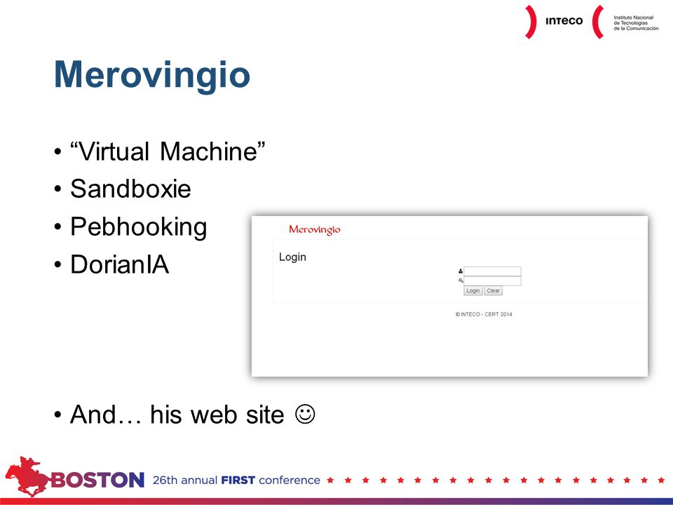Merovingio Virtual Machine Sandboxie Pebhooking DorianIA And… his web site