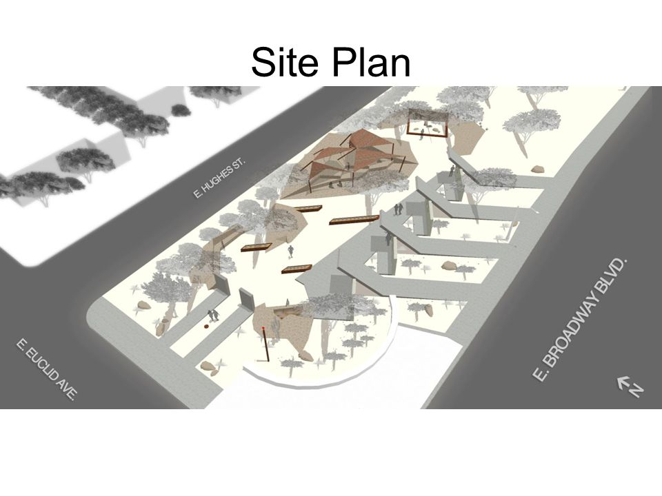 Site Plan Based on aerial view form 3d digital model