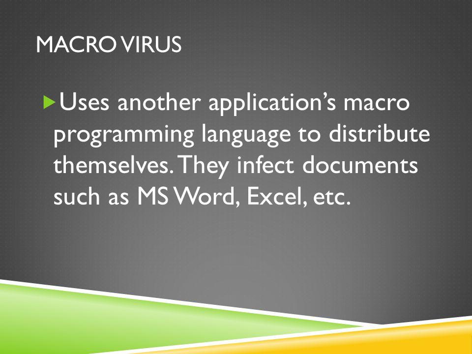 MEMORY RESIDENT VIRUS  Viruses that reside in a computers RAM.
