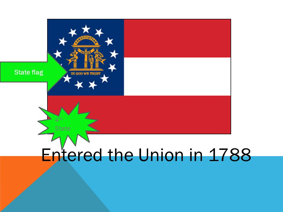Entered the Union in 1788 4 th State State flag