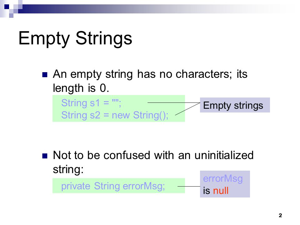 13 Numbers to Strings Three ways to convert a number into a string: 1.