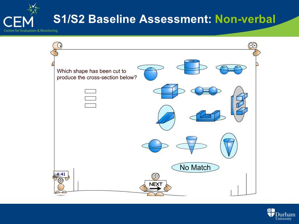 S1/S2 Baseline Assessment: Non-verbal