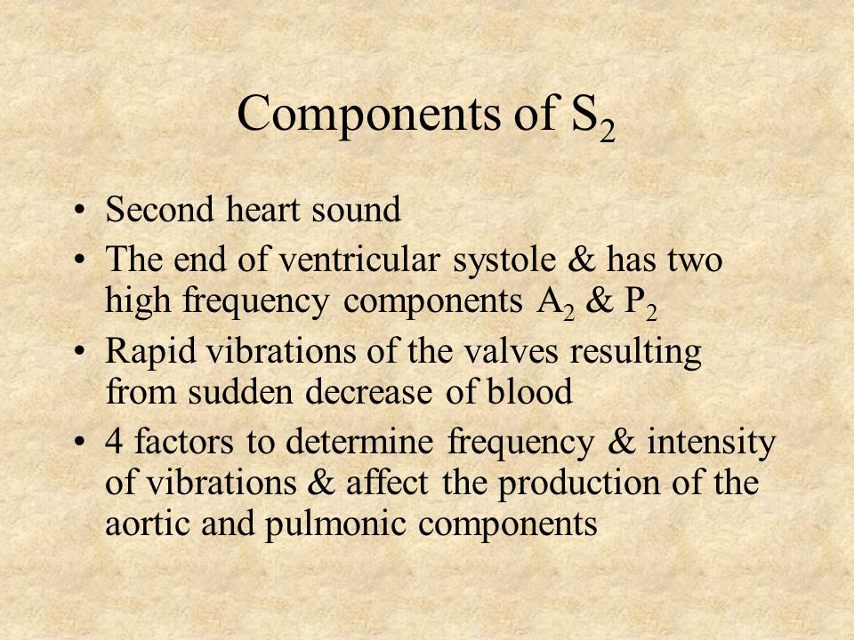 The Second Heart Sound (S 2 ) Chapter 8 Are G. Talking, MD, FACC Instructor Patricia L. Thomas, MBA, RCIS