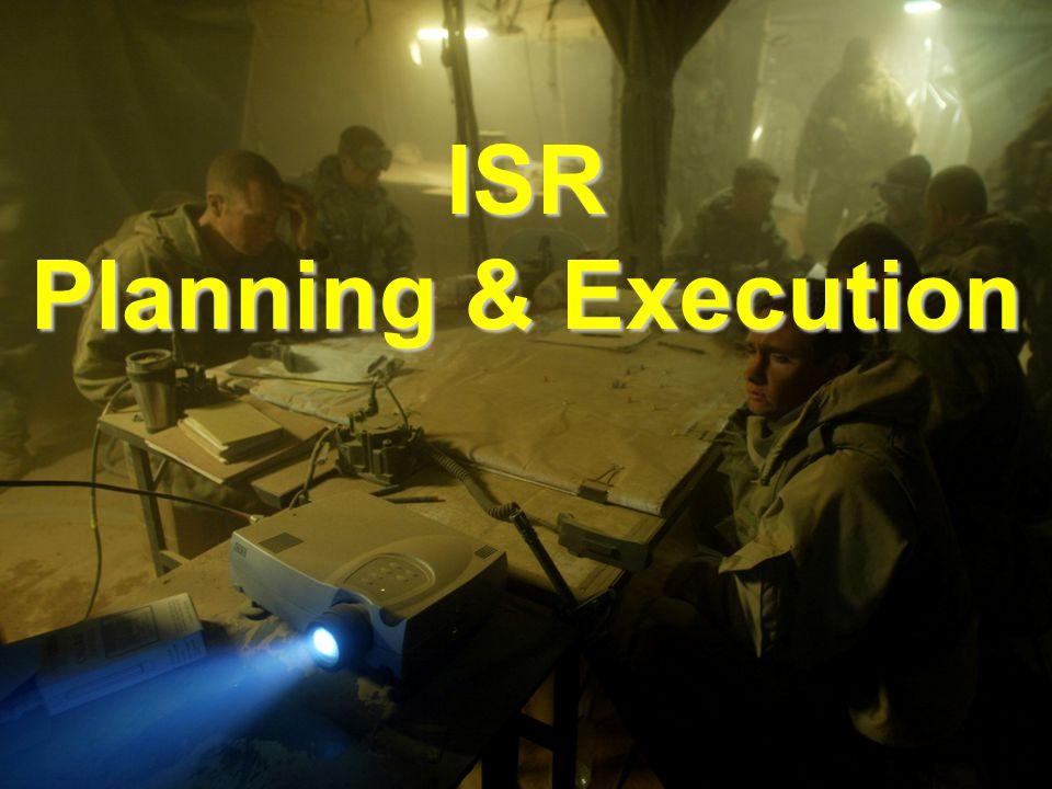 MI ISR Planning & Execution