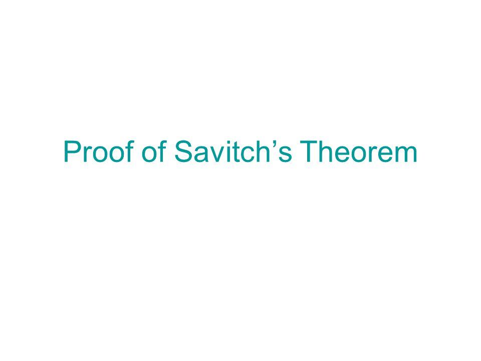 Proof of Savitch's Theorem