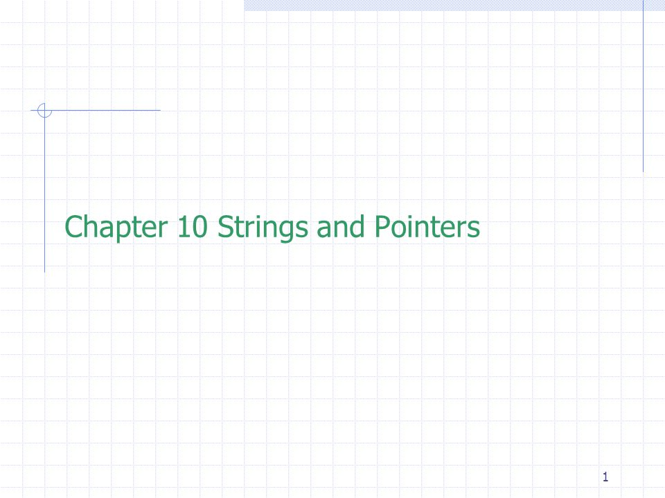 12 Initialization of Strings  A pointer to char can also be initialized with a constant string.
