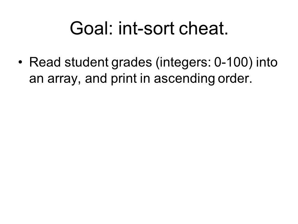 Goal: int-sort cheat.