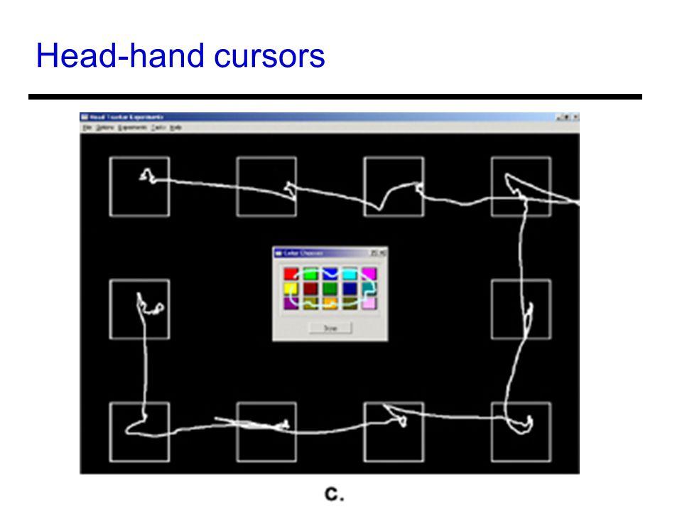 Head-hand cursors