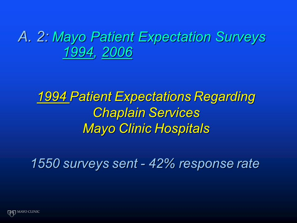 """""""The needs of the patient come first."""" A. 1. What do patients want from a chaplain? a) Have you surveyed patients? What kind of surveys/questions? b)"""