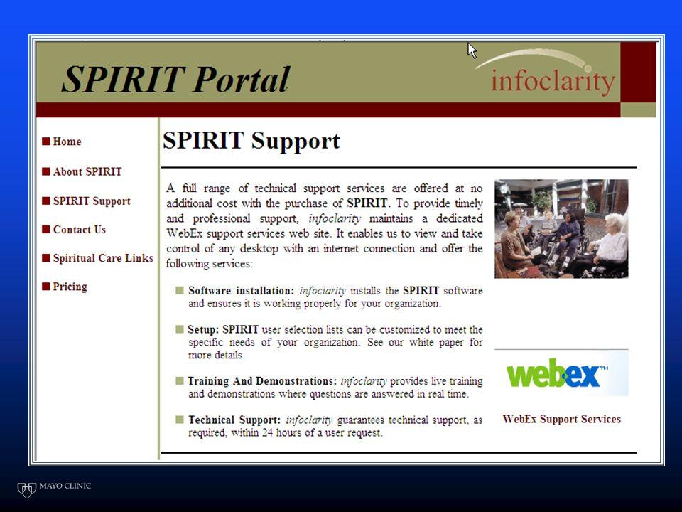3. SPIRIT Program www.spiritforchaplains.com Web based vendor Web based vendor