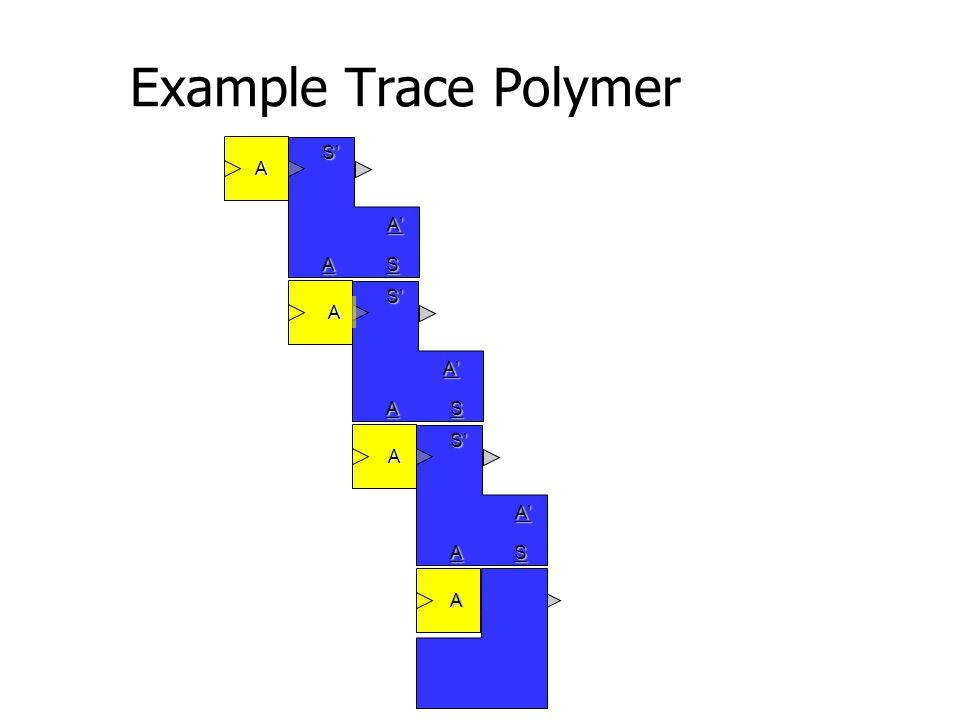 Example Trace PolymerA' S' AS A' S' AS A' S' AS A' S' AS A A A A