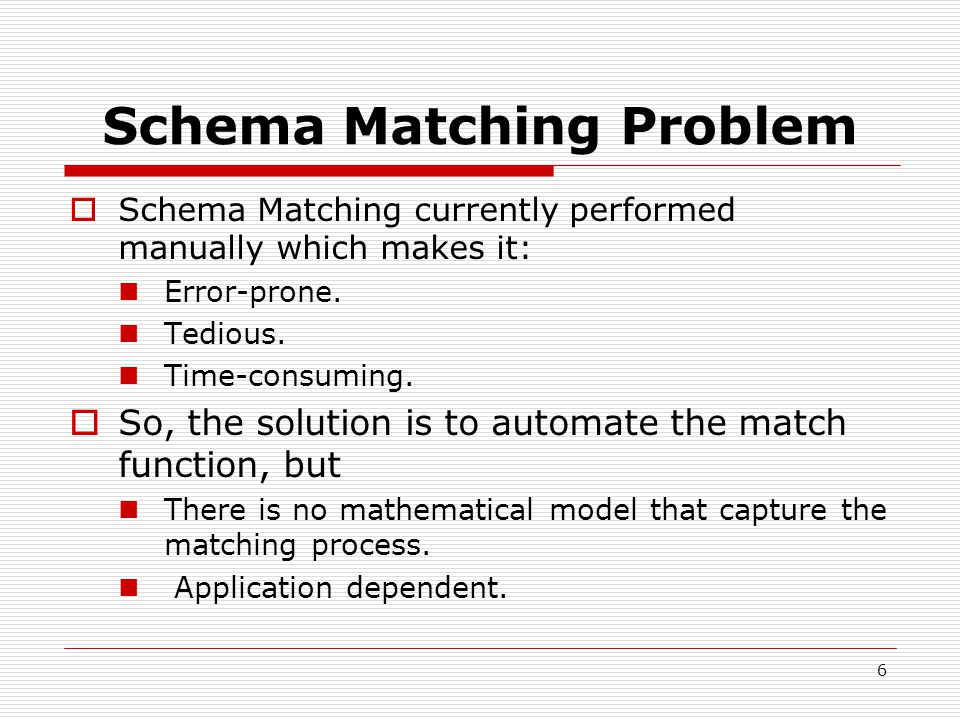27 Description Matching  Based on linguistic evaluation for the comment associated with schema elements.