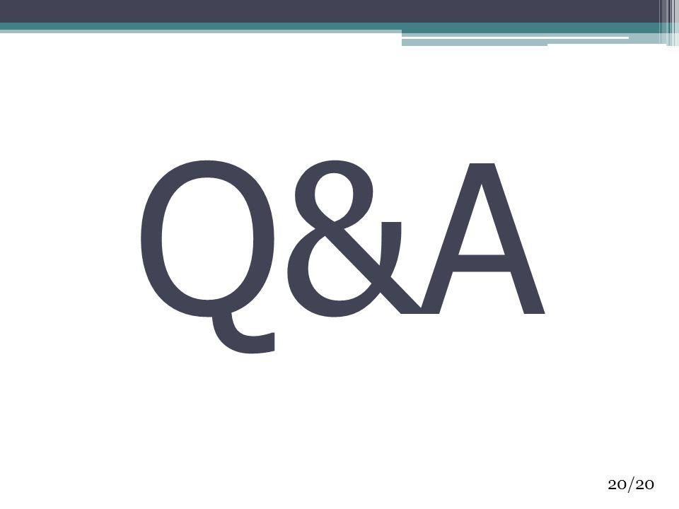 Q&A 20/20