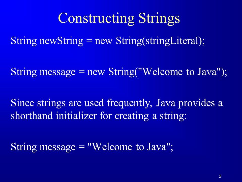 16 String Comparisons, cont.
