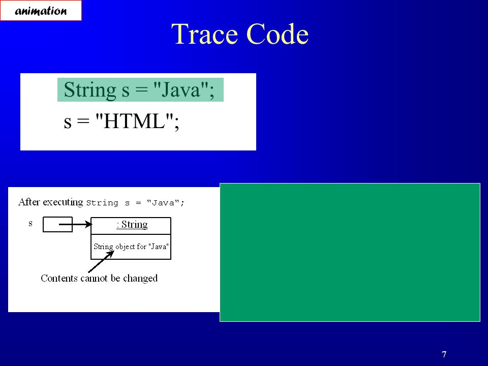 18 Finding String Length Finding string length using the length() method: message = Welcome ; message.length() (returns 7 )