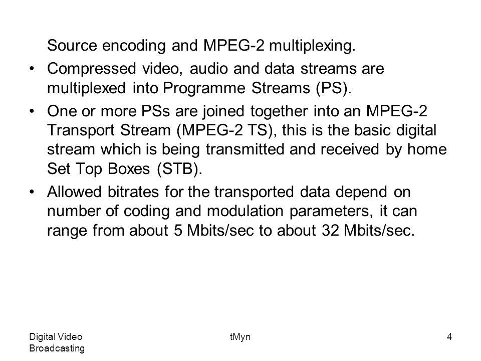 Digital Video Broadcasting tMyn35 Figure 7.