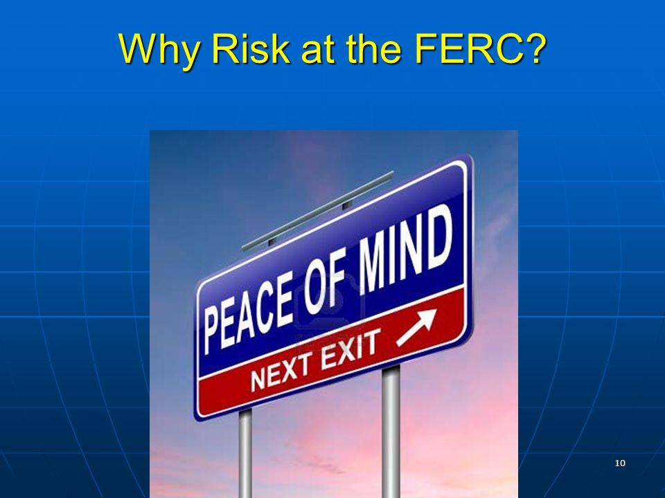 10 Why Risk at the FERC