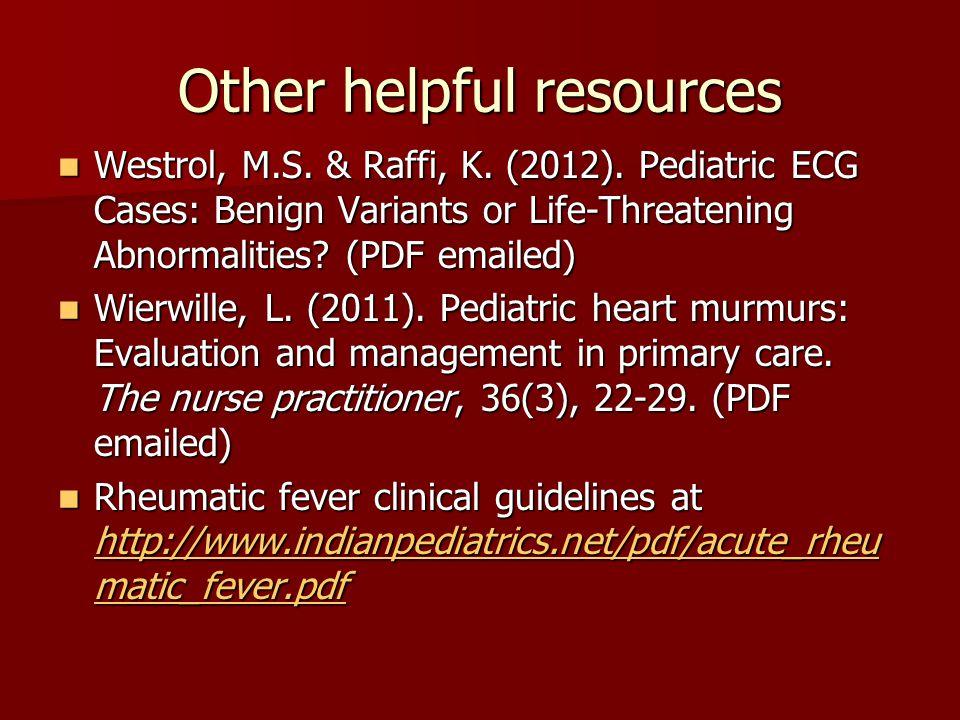 Congenital Cardiac Lesions Acyanotic and Cyanotic