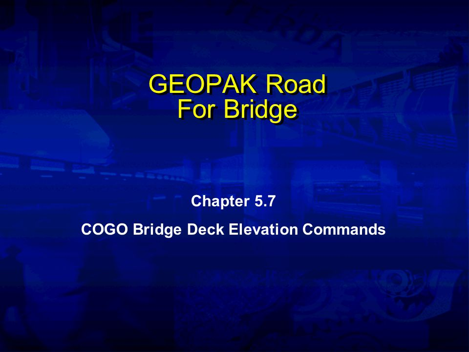 Bridge Deck Elevation Commands Beam Format C BEAM BY POI pa, pb Beam Format D BEAM pe, pf FROM n1 SPS v1 n2 SPS v2...