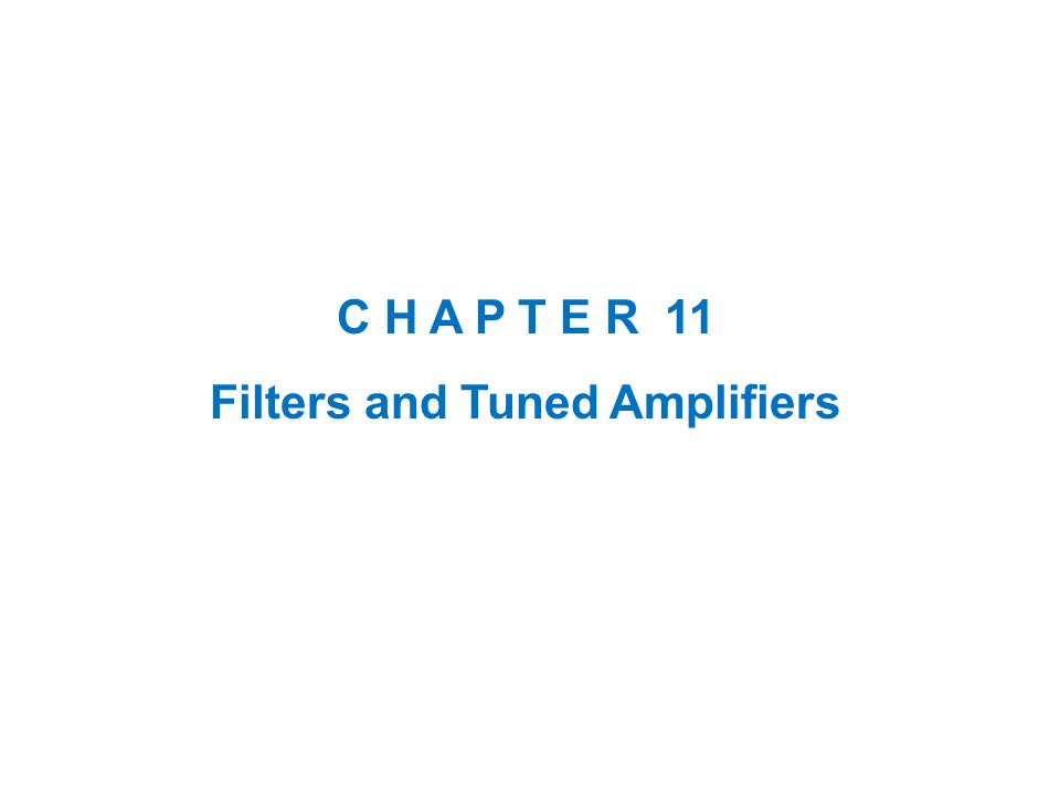 2 Introduction  The electronic filter is an important building block of communications and instrumentation systems.