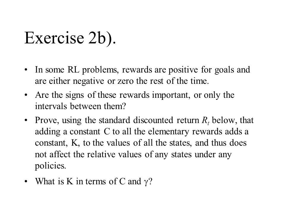 Exercise 2b).