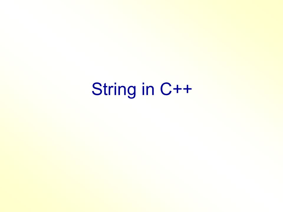 String Series of characters enclosed in double quotes. Philadelphia University String can be array of characters ends with null character '\0'.