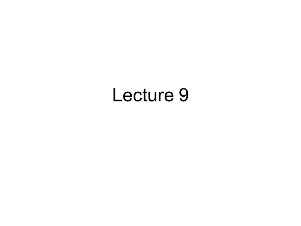 Lecture 9: Outline Strings [Kochan, chap.