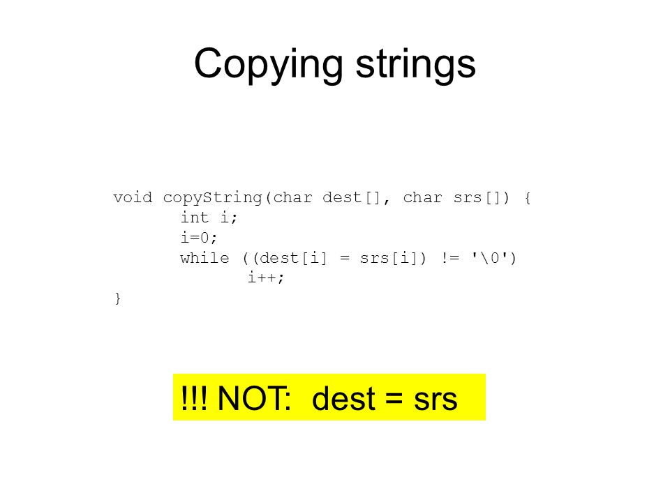 Copying strings !!.
