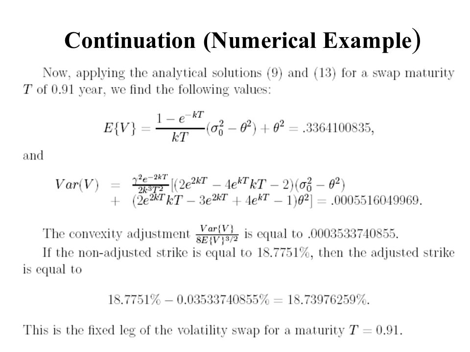 Continuation (Numerical Example )