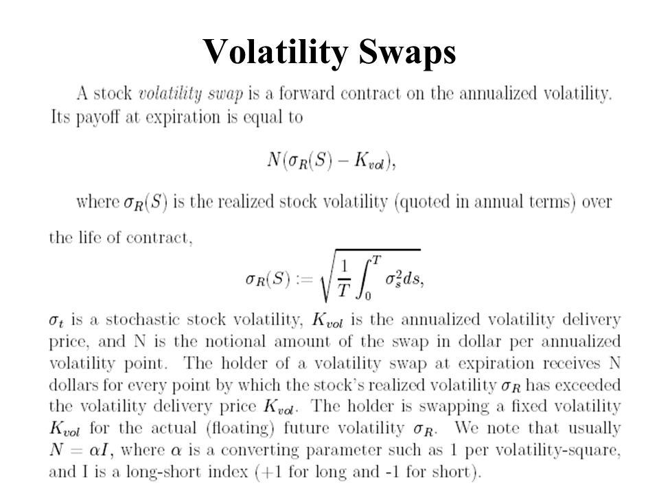 Volatility Swaps