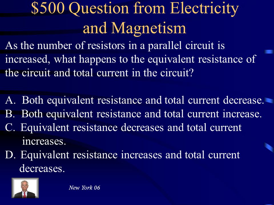 $400 Answer from Electricity and Magnetism 12 V