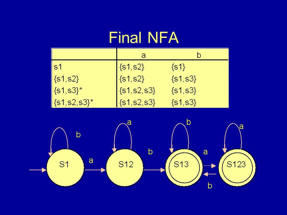 Final NFA