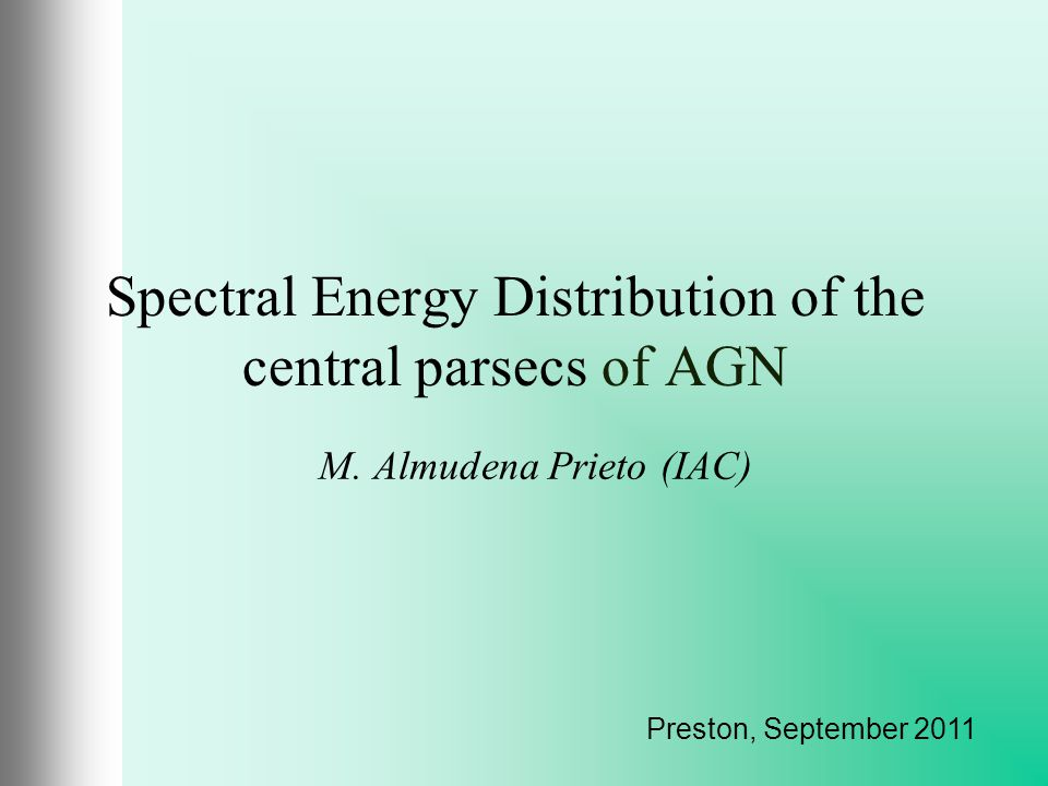 Spectral Energy Distribution of the central parsecs of AGN M.