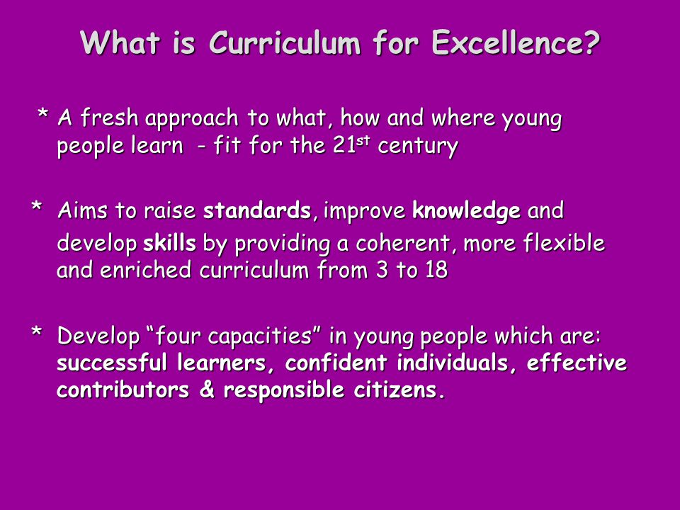 What is Curriculum for Excellence.