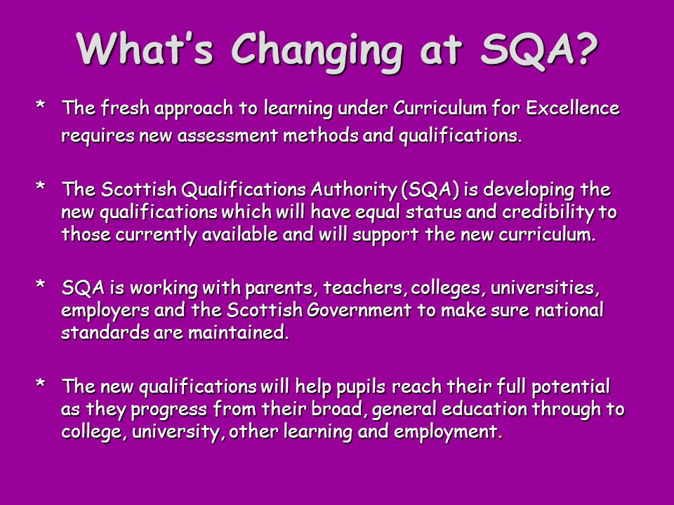 What's Changing at SQA.