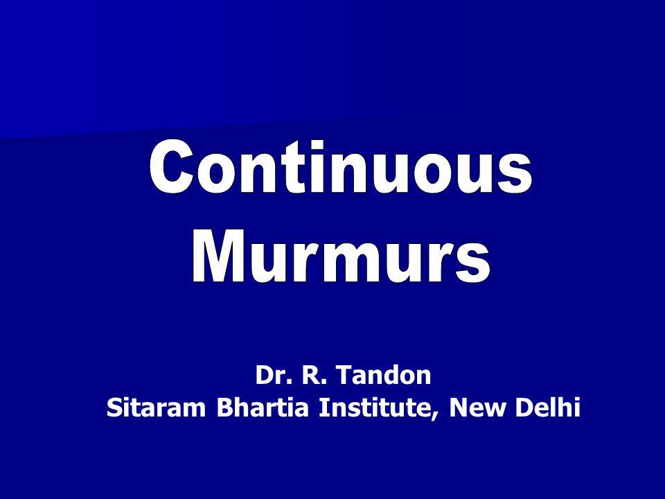 Dr. R. Tandon Sitaram Bhartia Institute, New Delhi
