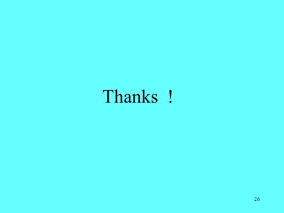 26 Thanks !