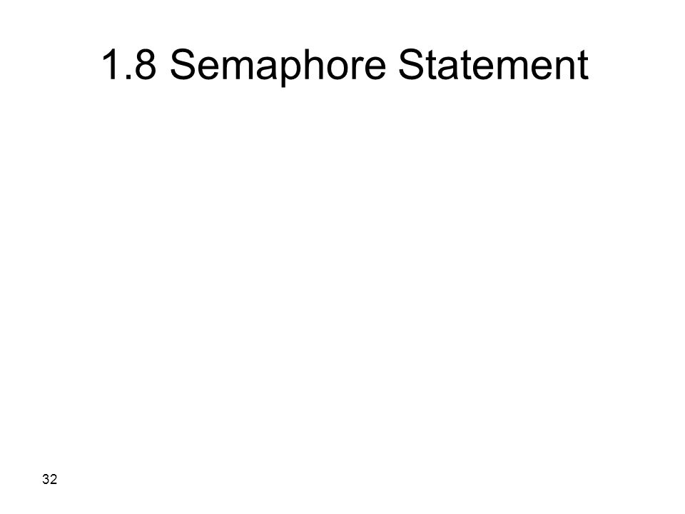 32 1.8 Semaphore Statement