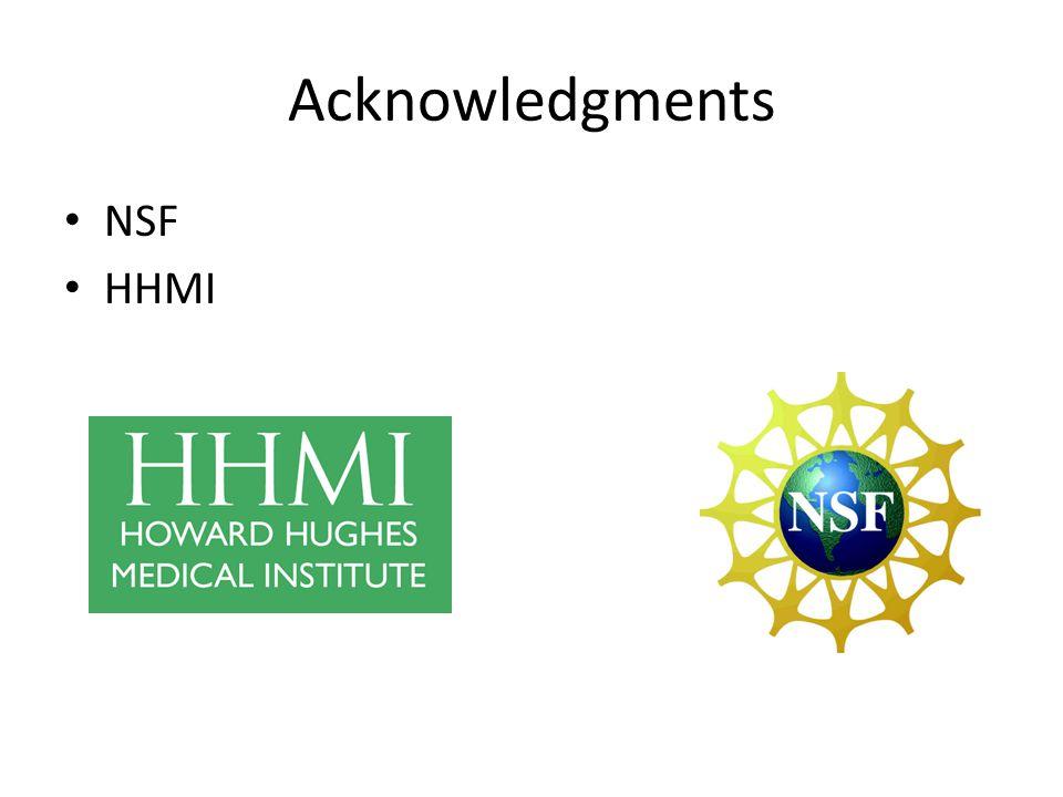 Acknowledgments NSF HHMI
